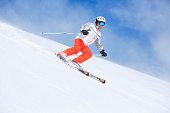 Ski Active senior men snow skier skiing Aging with attitude