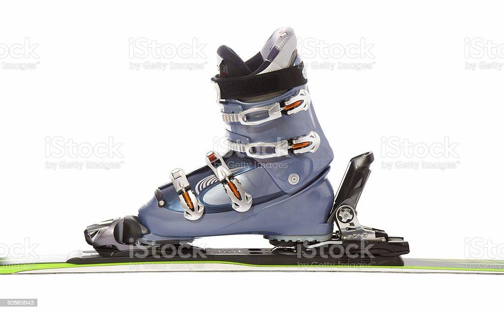 Ski and boot stock photo