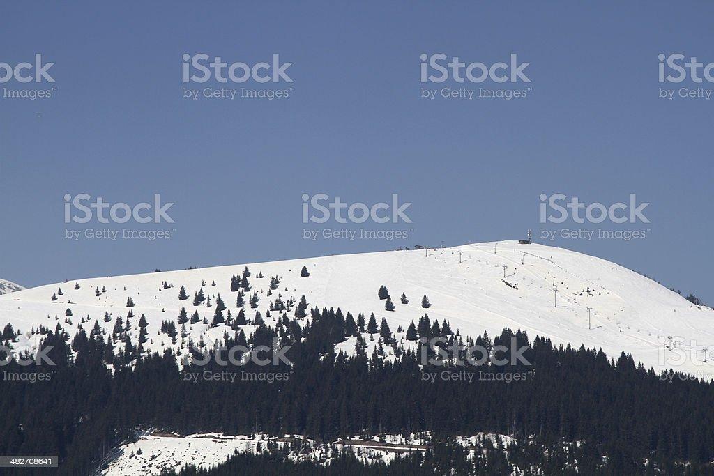ski area morzin stock photo