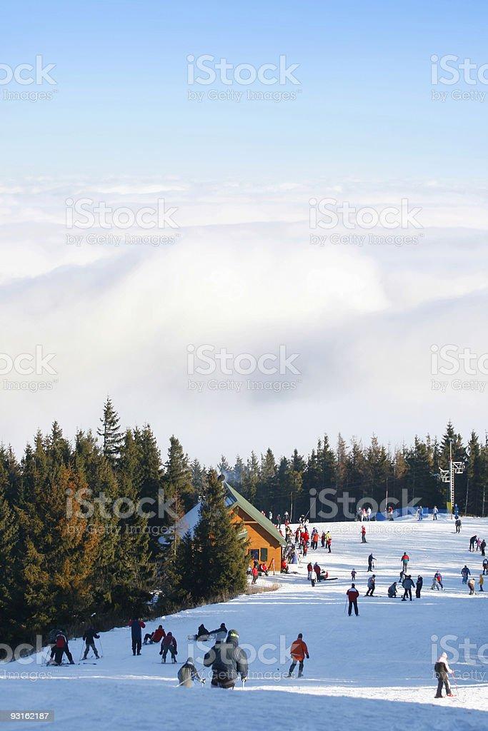 ski area royalty-free stock photo