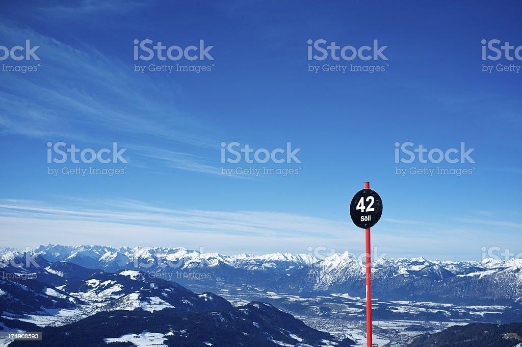 Ski Area Wilder Kaiser, Austria stock photo