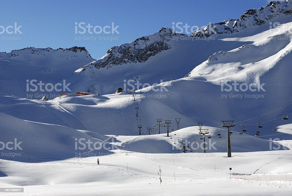 Ski arena in Passo Tonale - Dolomiti Alps royalty-free stock photo