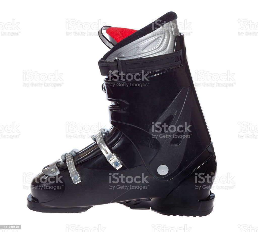 Ski boot stock photo