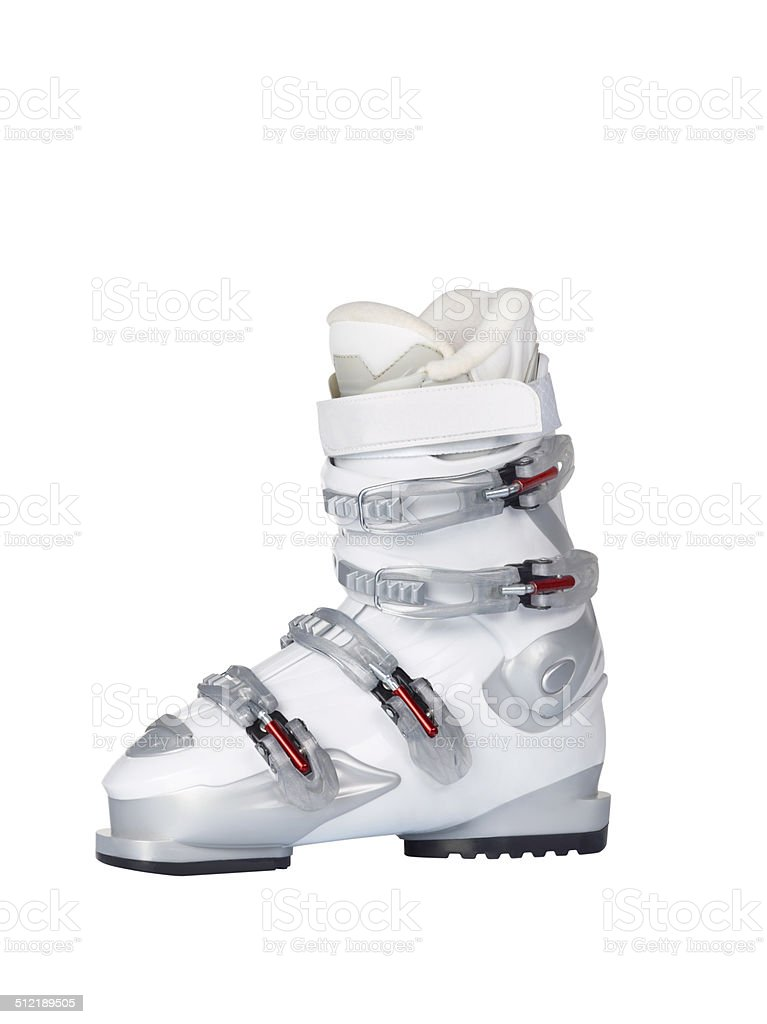 Ski Boot+Clipping Path stock photo