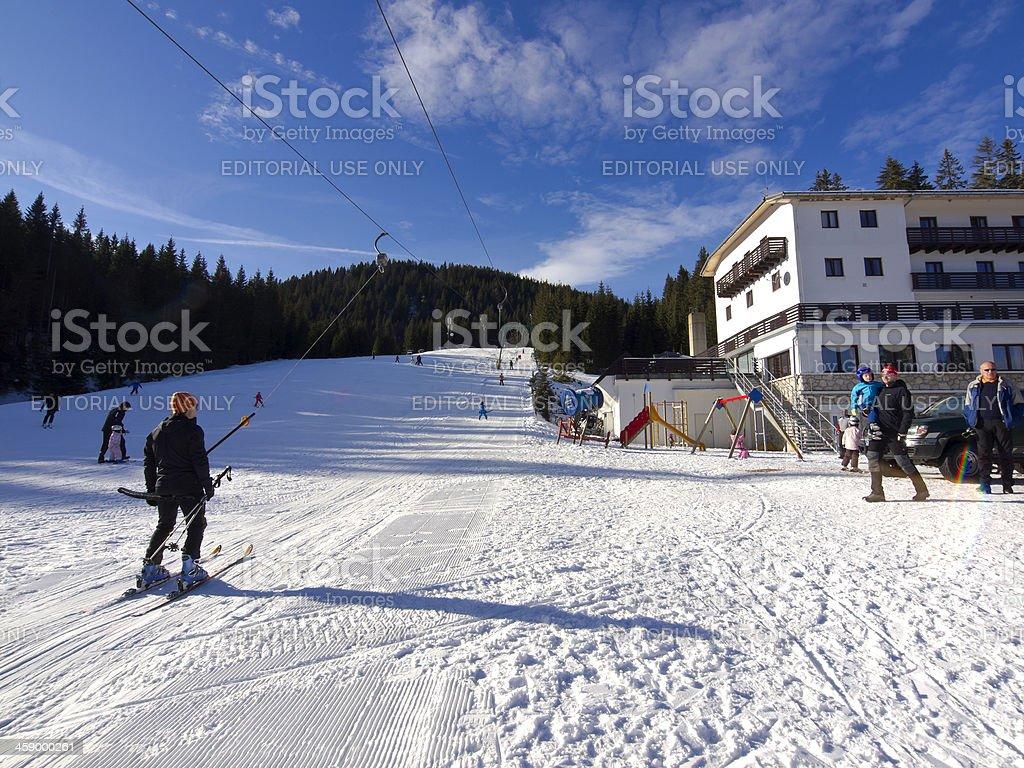 Ski center royalty-free stock photo
