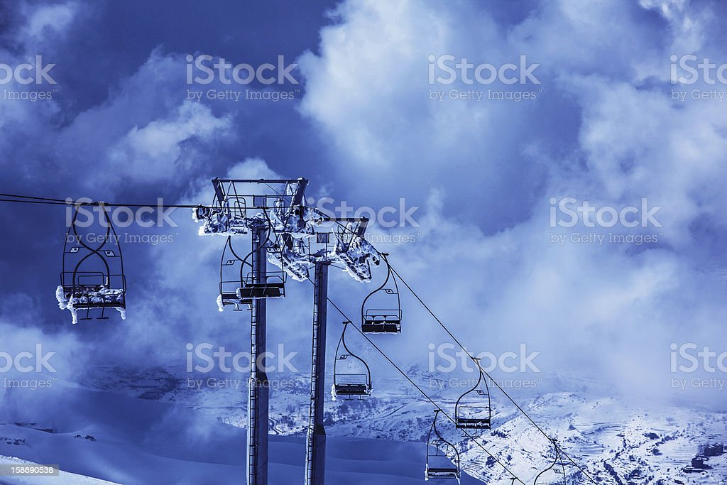 Ski chairlift royalty-free stock photo