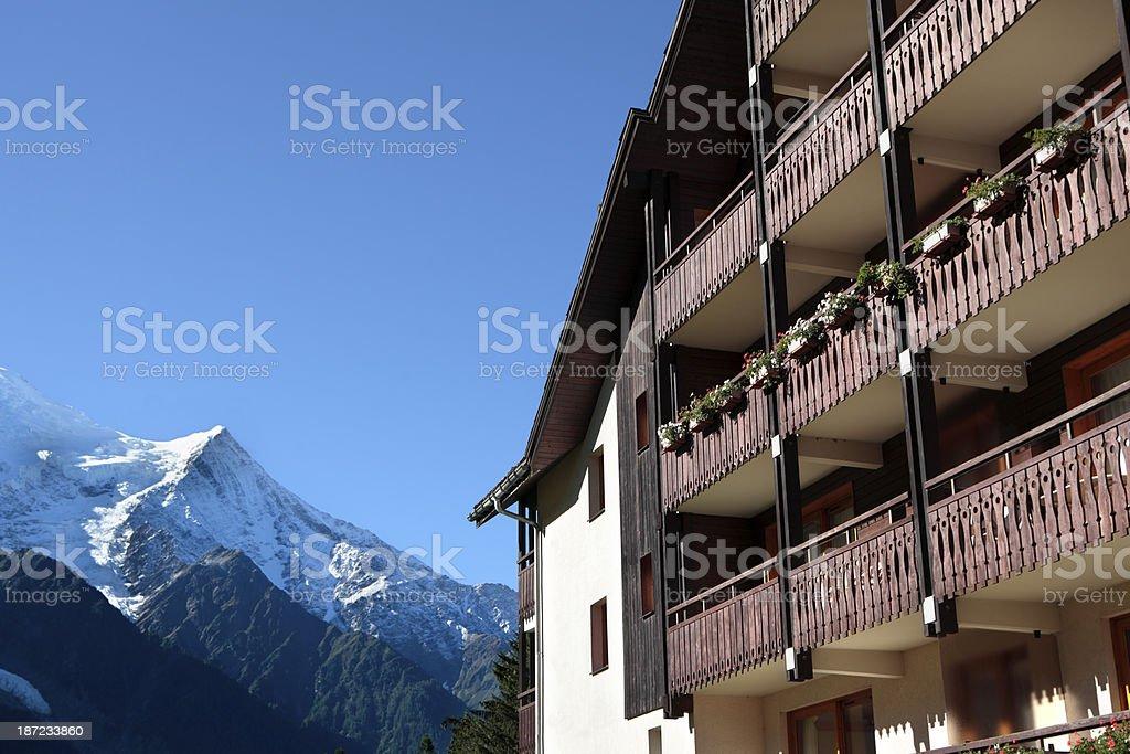 Ski chalet hotel royalty-free stock photo