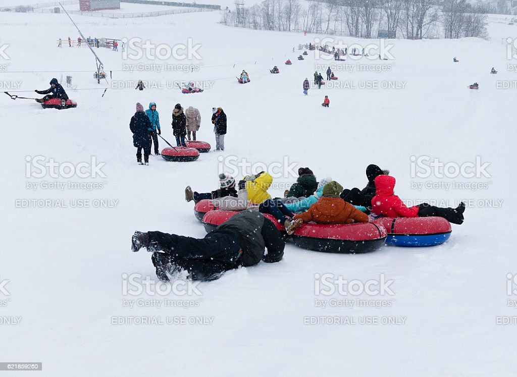 Ski club Leonid Tyagachev stock photo