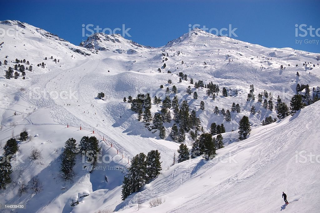 ski downhill slope royalty-free stock photo