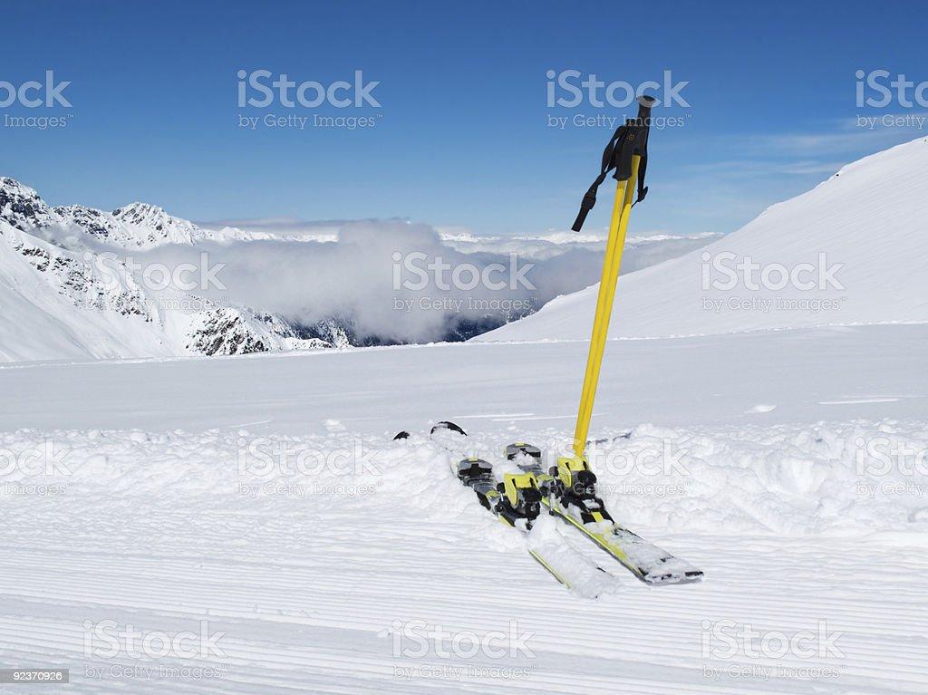 Ski equipment. royalty-free stock photo