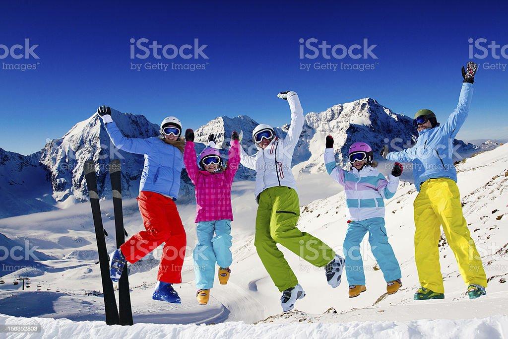 Ski euphoria stock photo