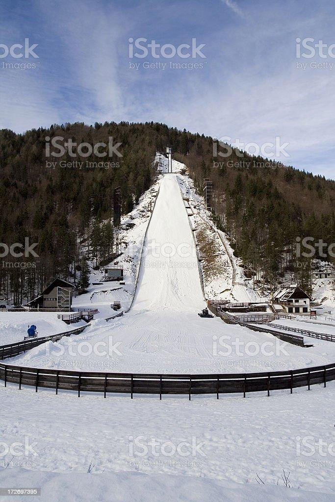 ski flyings stock photo