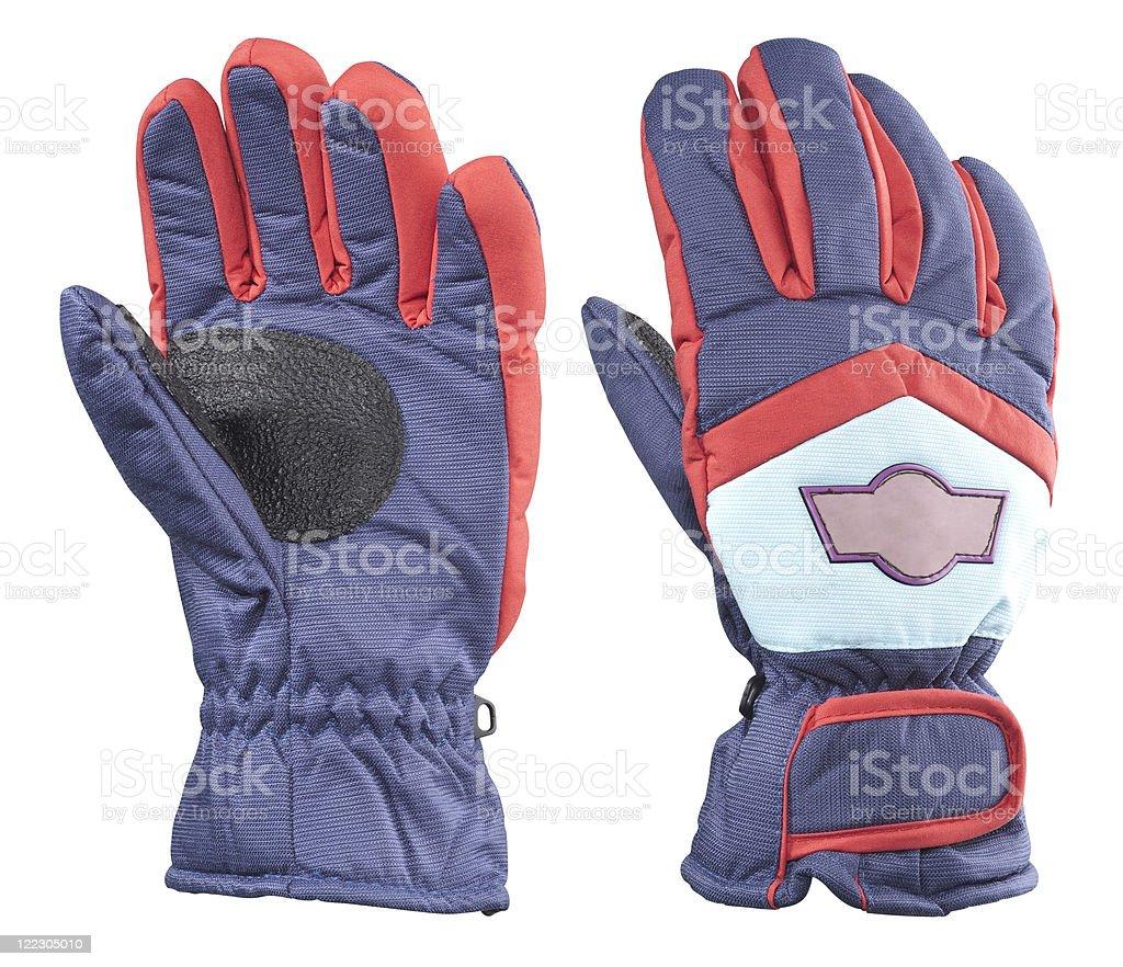 ski gloves royalty-free stock photo