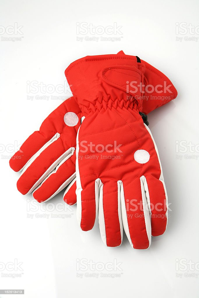 ski gloves stock photo