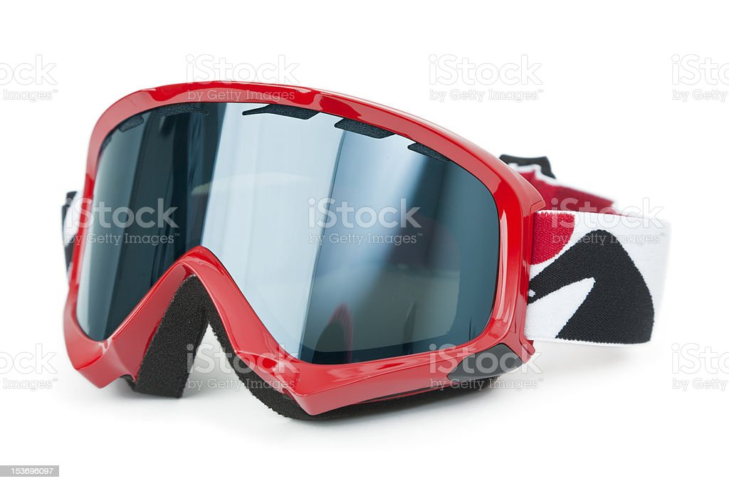 Ski Goggles isolated on white stock photo