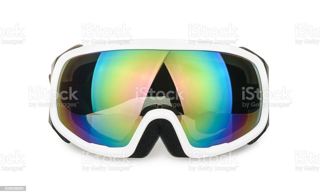 ski goggles isolated on white stock photo