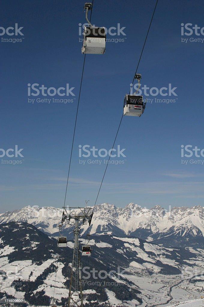 Ski Gondolas stock photo