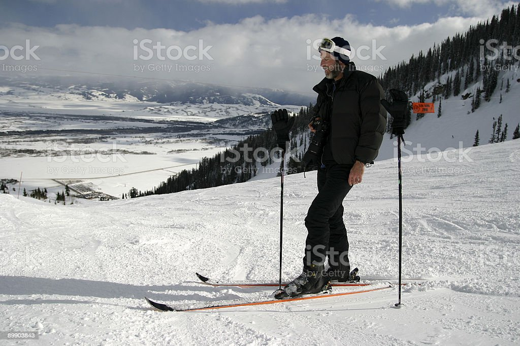 Ski Guy Photographer royalty-free stock photo