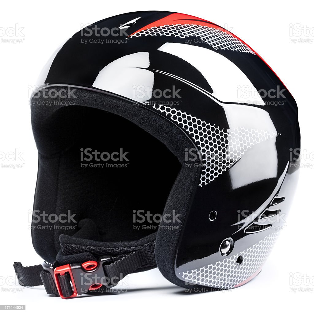Ski helmet,  isolated on white background royalty-free stock photo