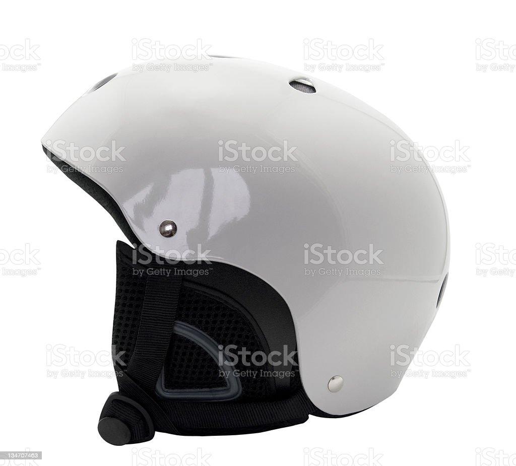 Ski helmet stock photo