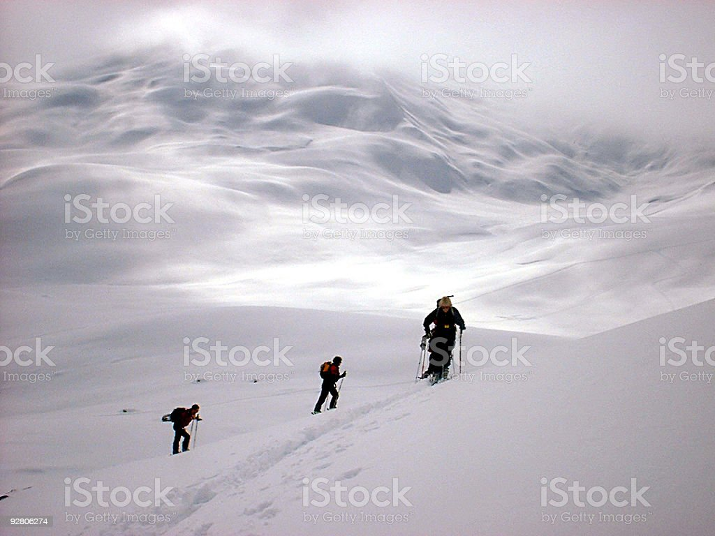 Ski hike cross country - swiss alps royalty-free stock photo