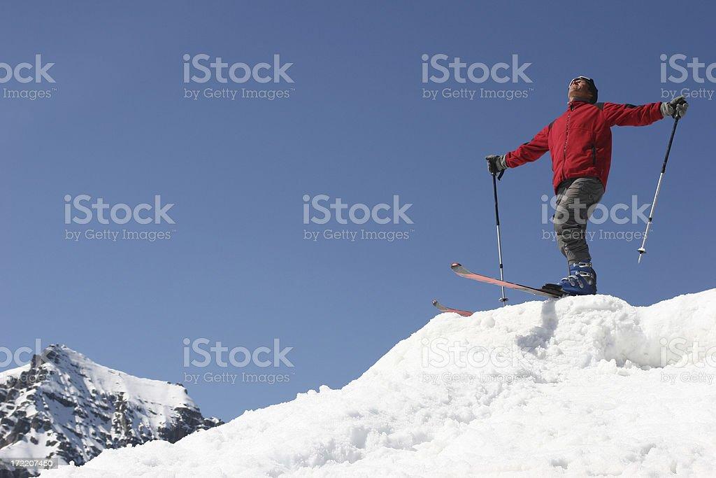 Ski in the sun royalty-free stock photo