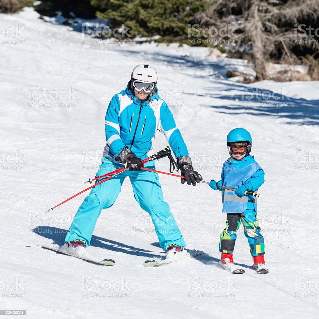 Ski instructor stock photo