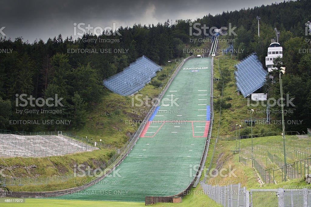 Ski jump Wielka Krokiew stock photo