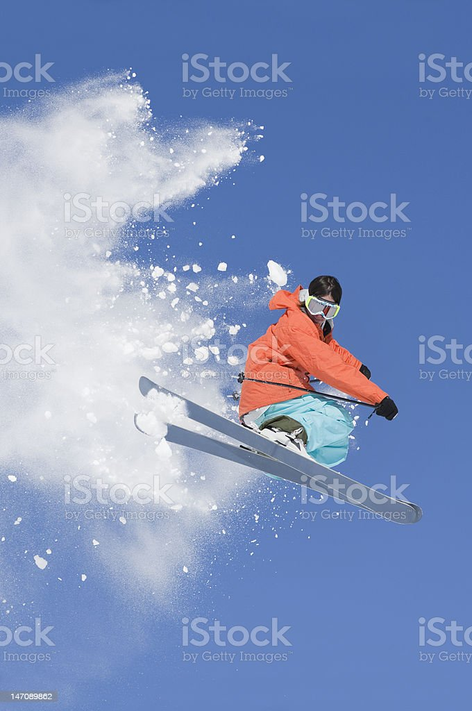 Ski Jumping In Colorado royalty-free stock photo