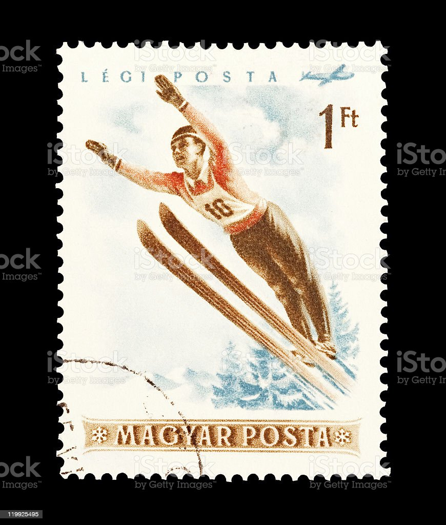 ski jumping royalty-free stock photo