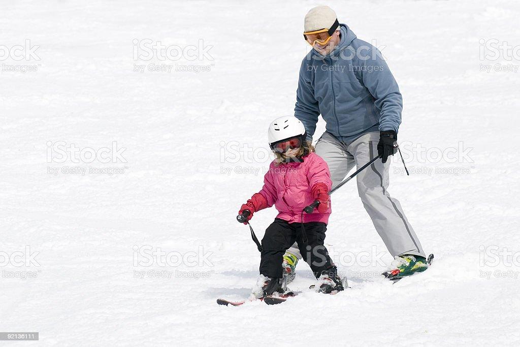 Ski lesson stock photo