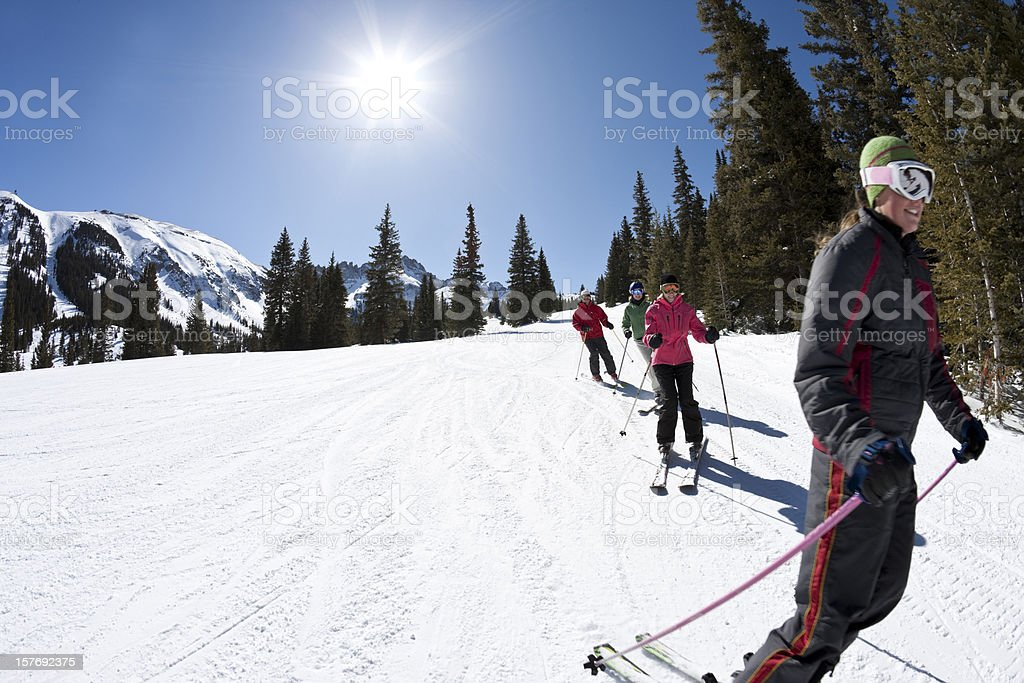 Ski Lessons royalty-free stock photo