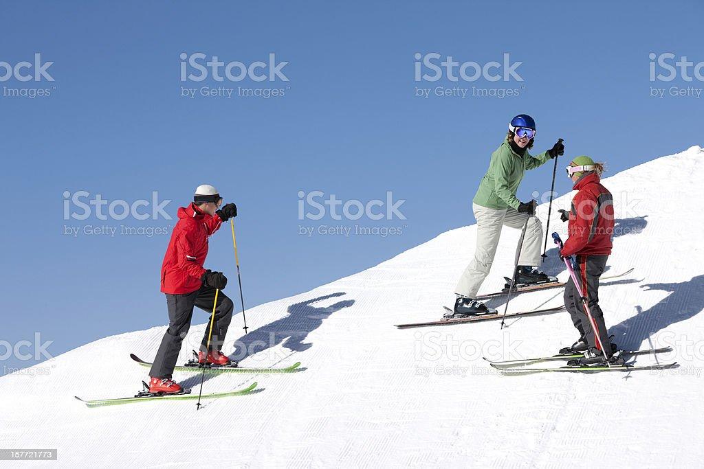 Ski Lessons royalty-free stock photo
