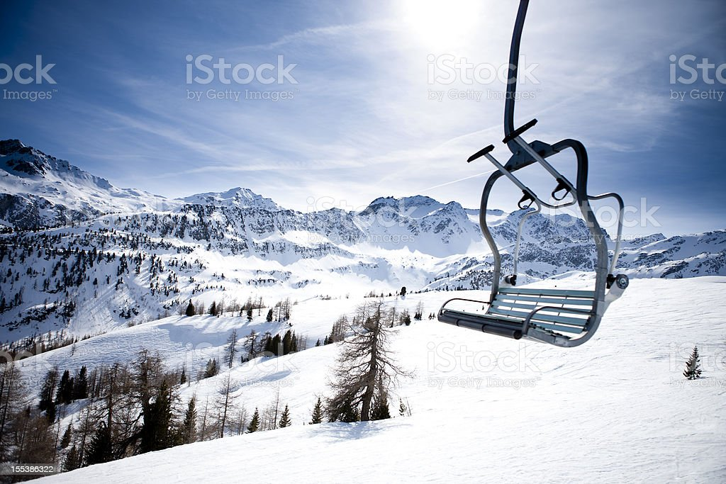 ski lft stock photo