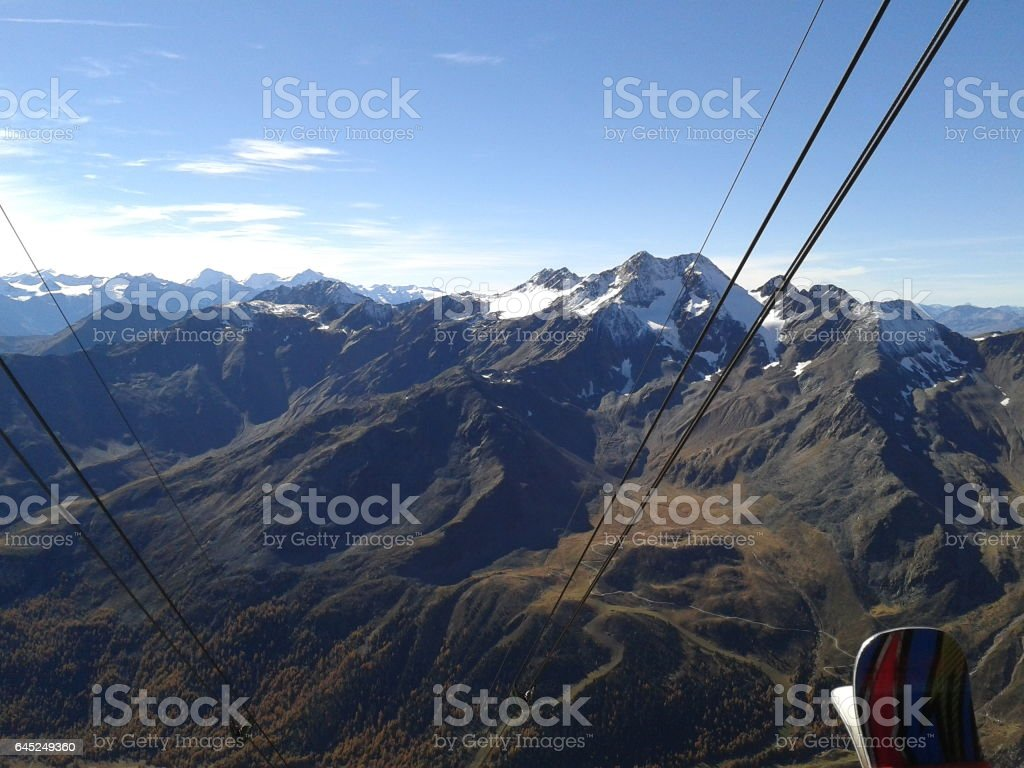Ski life stock photo