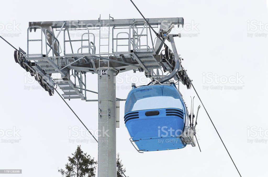 ski lift cabin Bansko, Bulgaria world cup center royalty-free stock photo