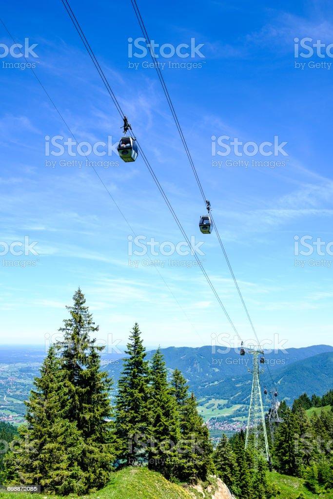 ski lift cabin stock photo
