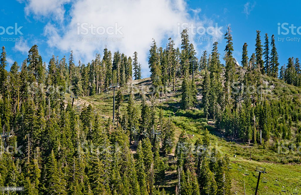 Ski Lift in Summertime stock photo