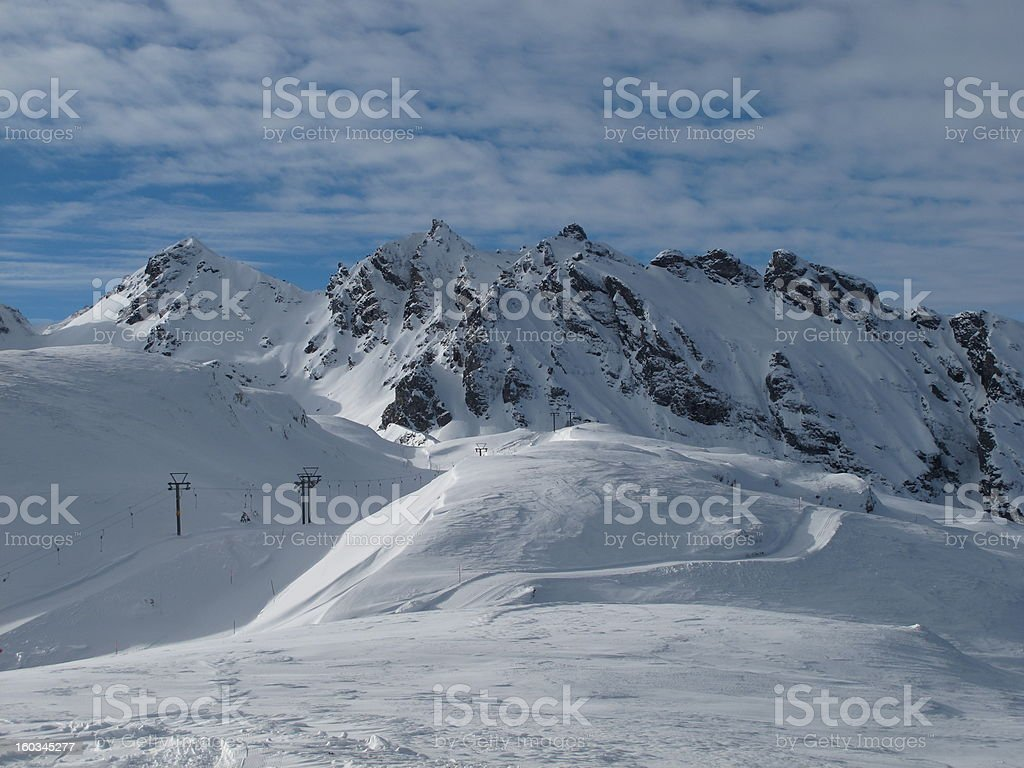 Ski Lift In The Pizol Region stock photo