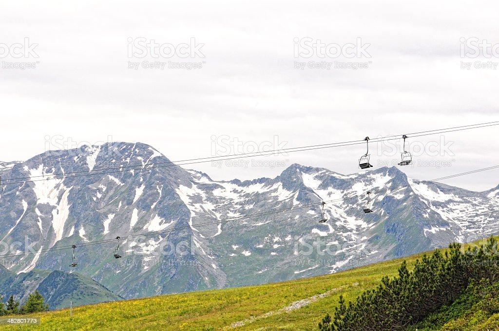 Ski Lift in Zillertal stock photo