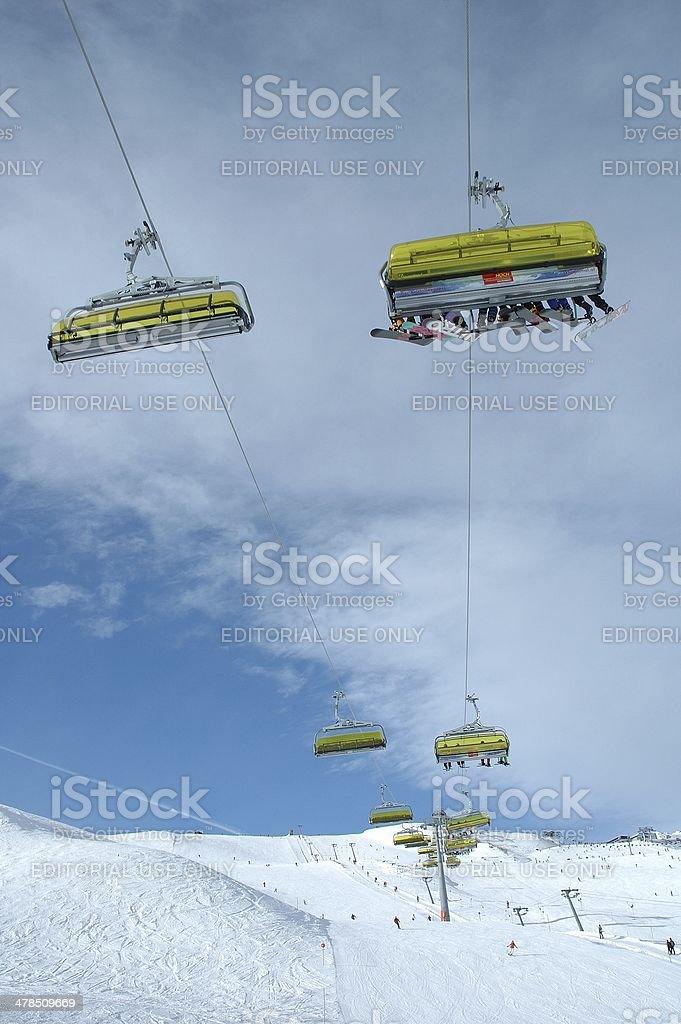 Ski lift stock photo