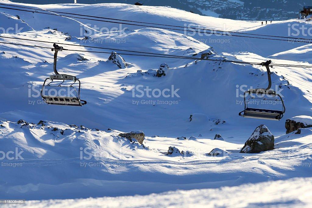 Ski Lift Seats stock photo