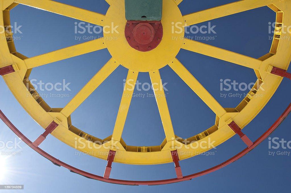 Ski lift wheel royalty-free stock photo