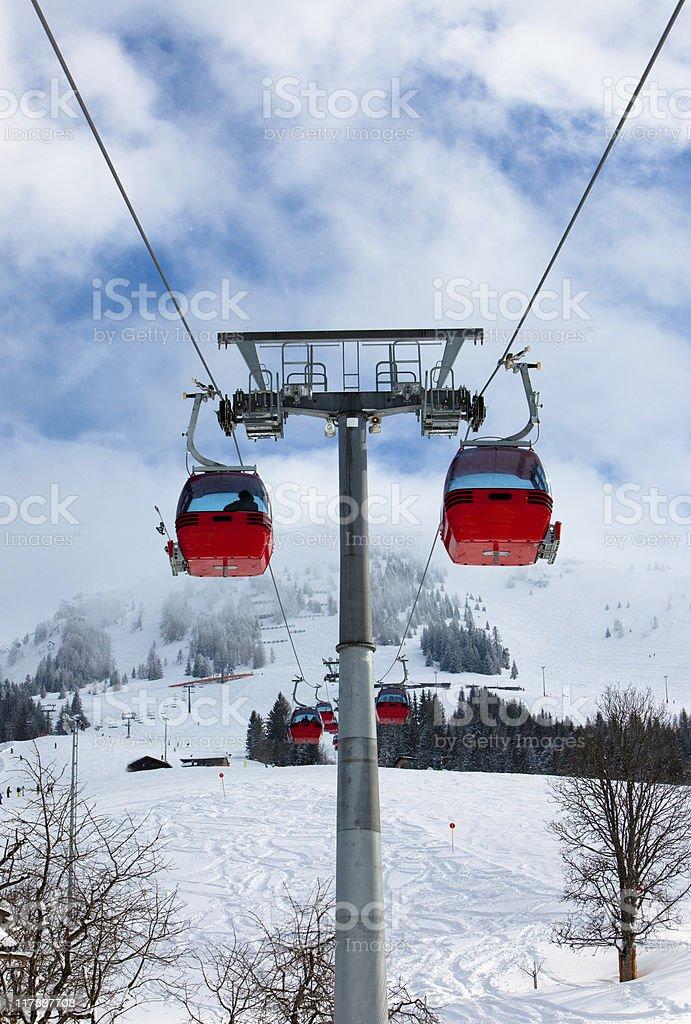 Ski lifts royalty-free stock photo