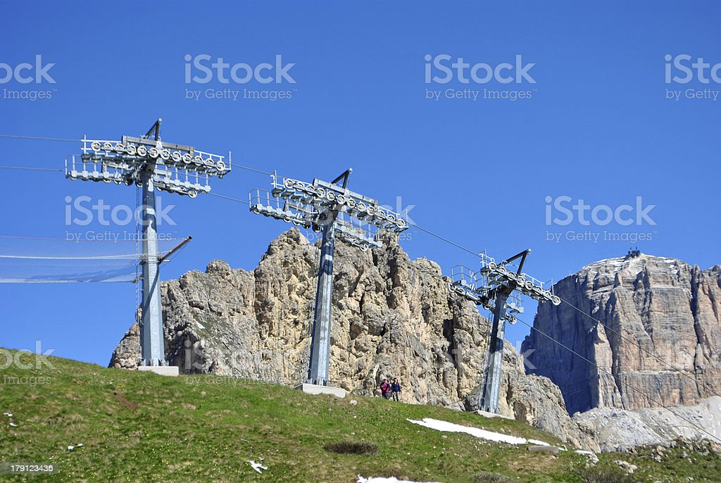 ski lifts royalty-free stock photo