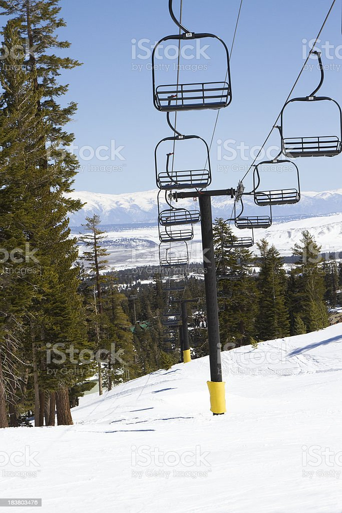 Ski Lifts stock photo