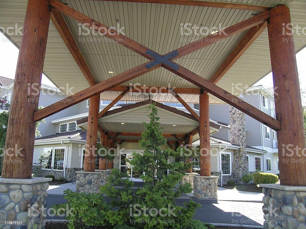 Ski Lodge Entrance royalty-free stock photo