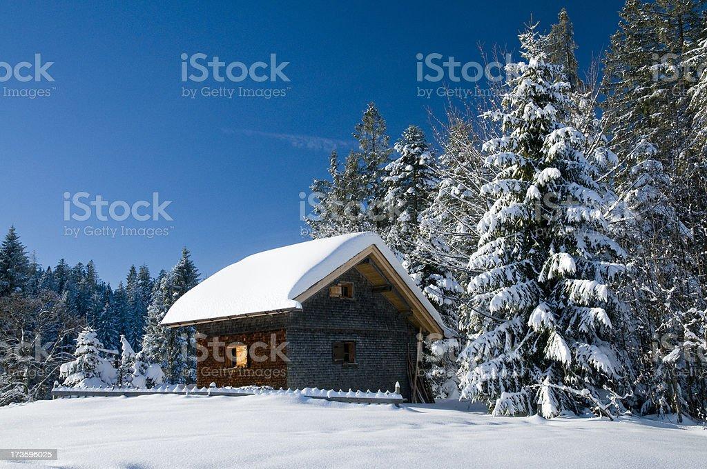 ski lodge royalty-free stock photo