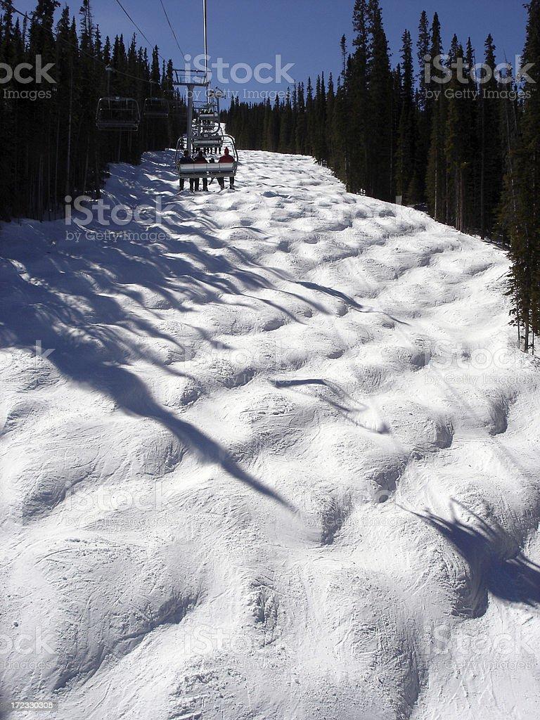 Ski Mogul Run stock photo