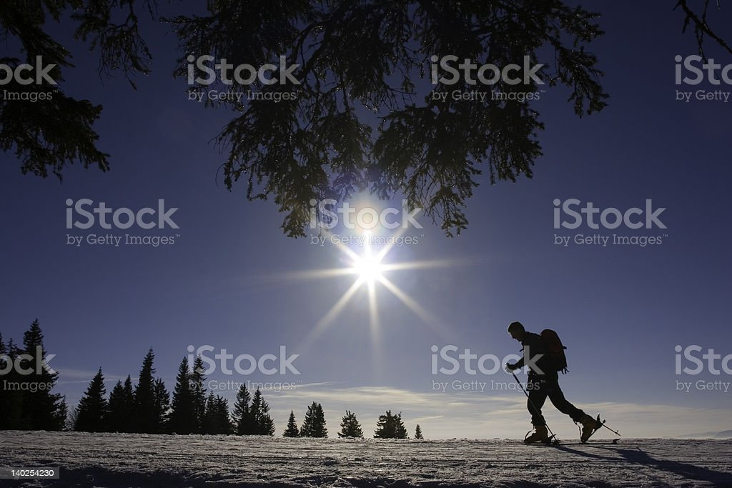 Ski Mountaineer royalty-free stock photo